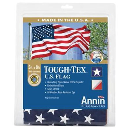 5' x 8' Tough Tex US Flag 100% 2 Ply Spun Woven Polyester Fabric Resis