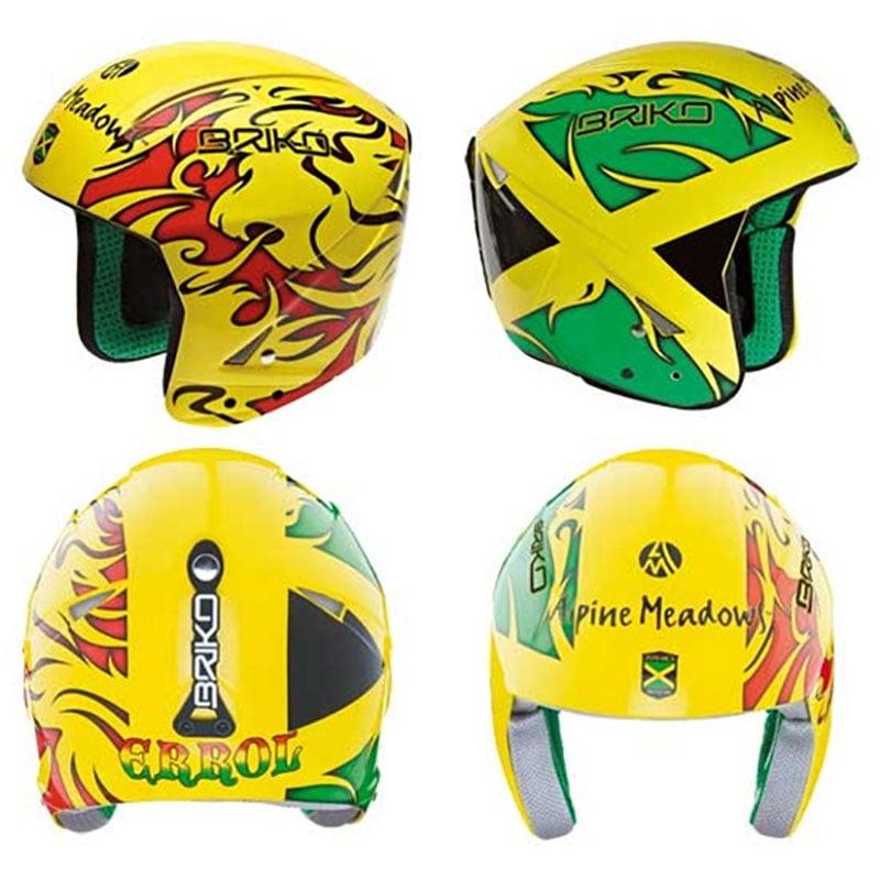 Briko Phoenix Ski Helmet (Jamaica Yellow Red, 52cm) by SOGEN SPORTS INC.