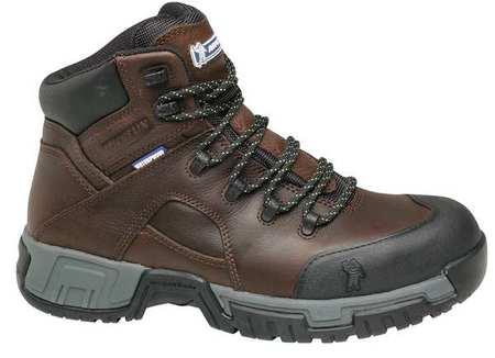 Michelin Size 10 Steel Toe Work Boots, Men's, Brown, W, XHY662 by Michelin