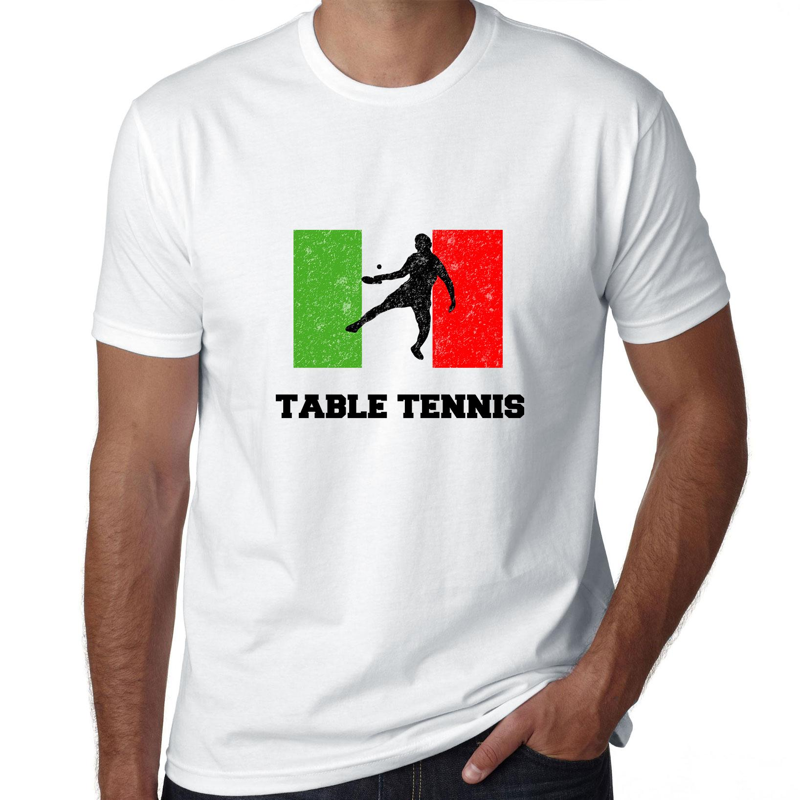 Italy - Olympic - Table Tennis - Flag - Silhouette Men's T-Shirt