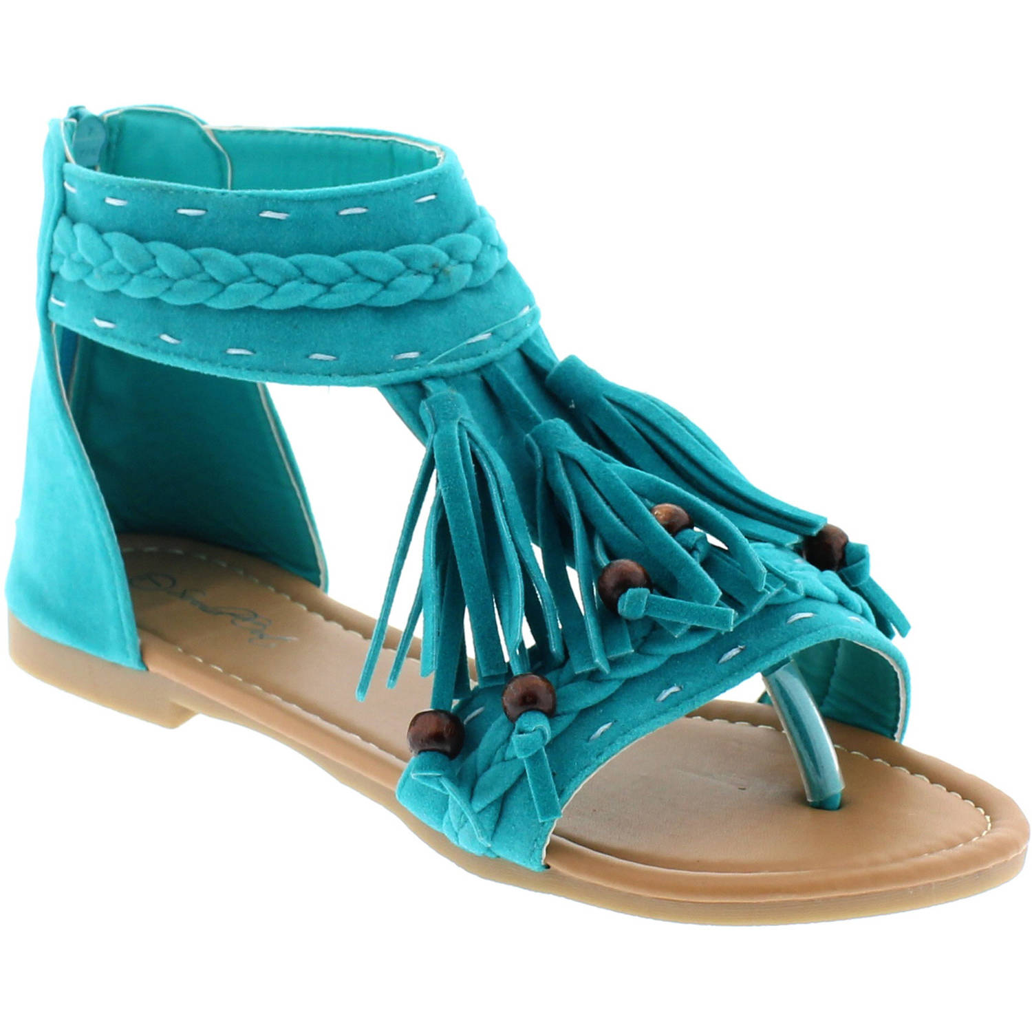 Shoes of Soul Women's Fringe Comfort Sandal