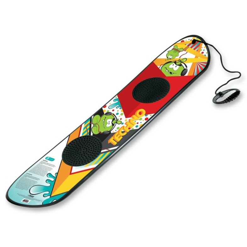 Techno Beginner's Snowboard with Rope Handle by