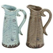 2-Pc Decorative Pitcher Set