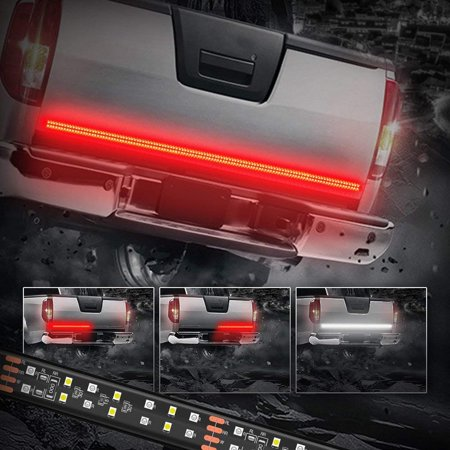 60 Inch LED Truck Tailgate Light Bar Strip Red/White Reverse Stop Turn Signal Running for SUV RV Trailer