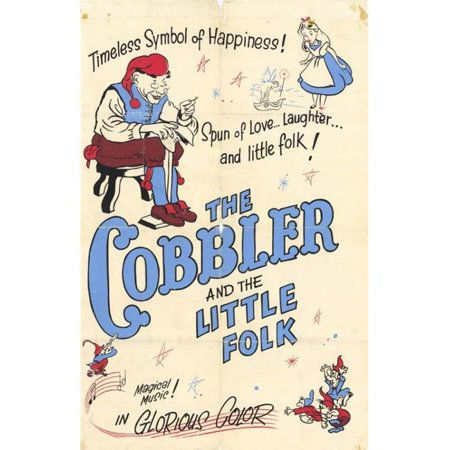 Posterazzi MOVCH3204 Cobbler & the Little Folk Movie Poster - 27 x 40 in.