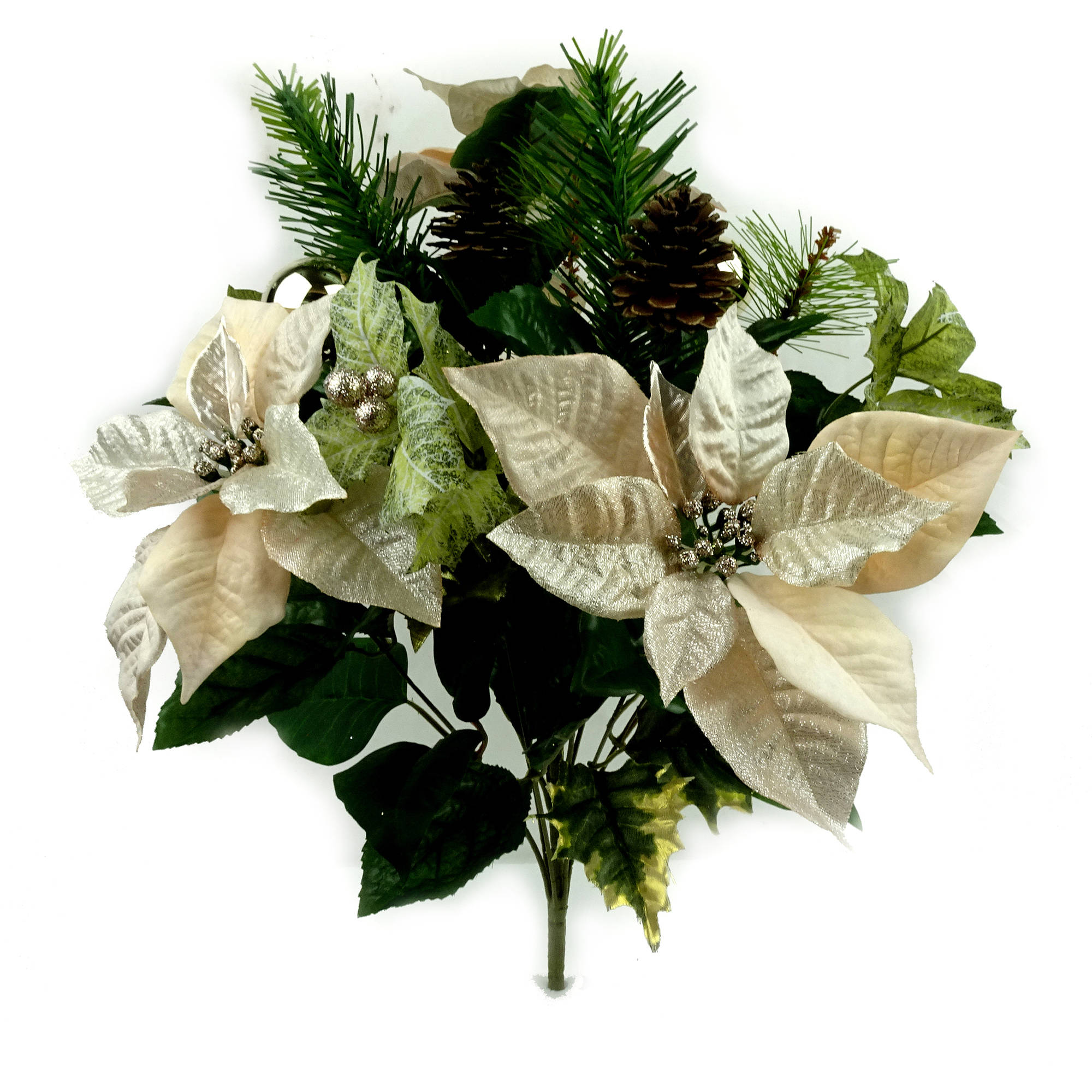 Champagne Poinsettia Mixed Bouquet