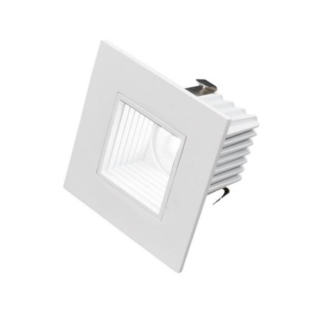 2 in. Square LED Downlight with Baffle Trim in White - 2700K 75w White Baffle Trim
