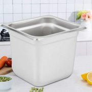 TFCFL Food Tray Stainless Steel Steam Food Warming Tray Cafeteria Food Utensils 6 Inches Deep 6 Pieces