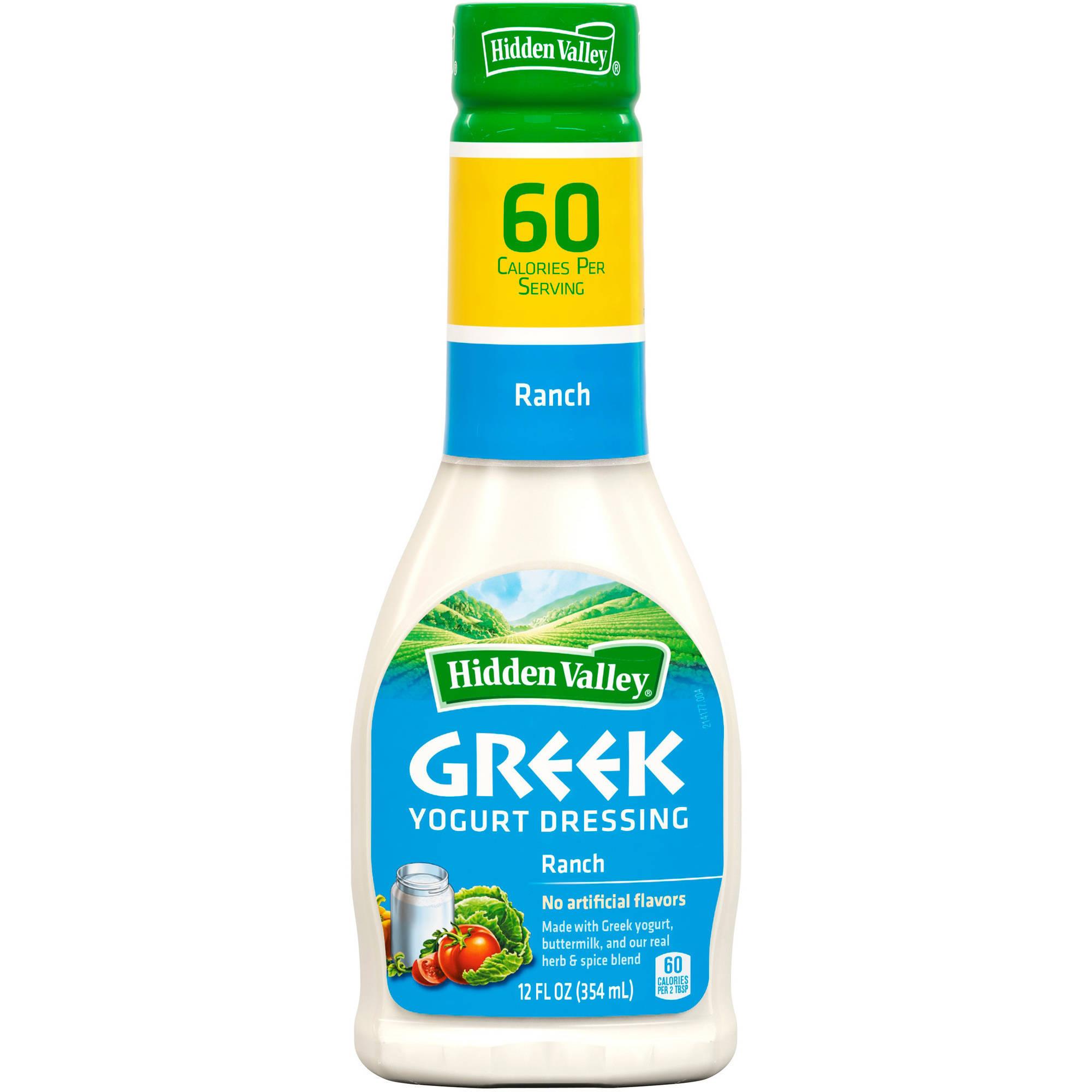 Hidden Valley Ranch Greek Yogurt Dressing, 12 fl oz