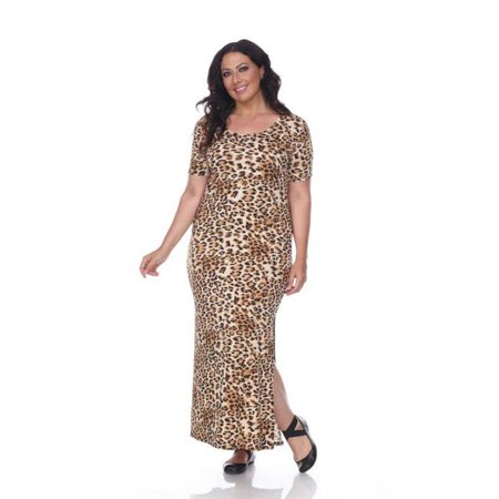 White Mark PS891-95 3XL Plus Size Jasmine Maxi Dress 95, ...