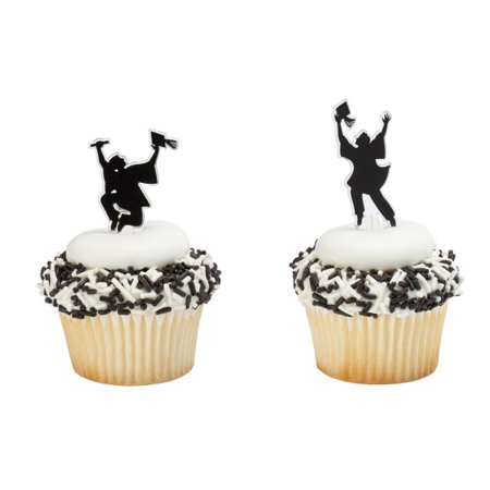 Achieve Your Dream Graduation Cupcake Picks - 24 - Masquerade Cupcake Picks