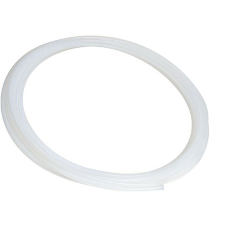 Hard Bendable PVDF Plastic Semi-Clear White Tubing for Food, Beverage and Dairy Applications - Inner Diameter 1/8