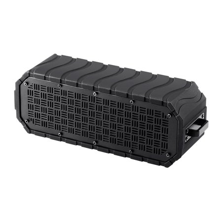 Monoprice Deep Blue 10 Portable Waterproof Bluetooth 3.0 Speaker - Black | IPx6 Rated, 9 Hour Battery Life, 32ft Wireless Range, Compatible With Apple, Android, Samsung, Smartphones And (Best Battery Life Smartphone Under 20000)