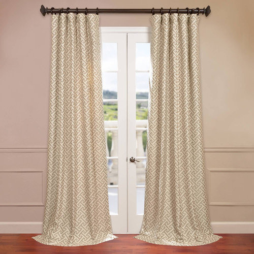 Half Price Drapes Zeus Jacquard Single Curtain Panel
