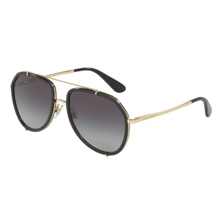 New Dolce Gabbana Sunglasses (Dolce & Gabbana DG2161 02/8G Black/Gold