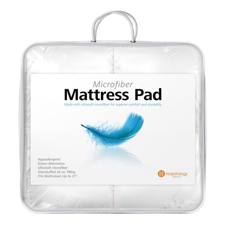 Image of Hospitology Heavenly Microfiber Goose Down Alternative Overstuffed Mattress Pad/Topper