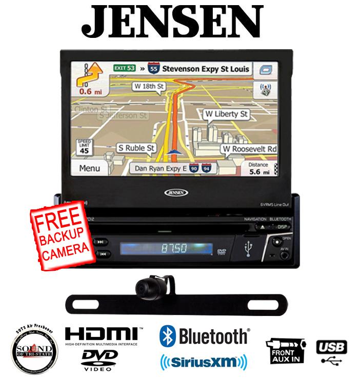 Jensen VX7012 Navigation DVD CD receiver w  Backup Camera Package by Jensen