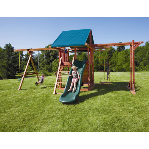 Kids Creations Redwood Grand Stand Swing Set