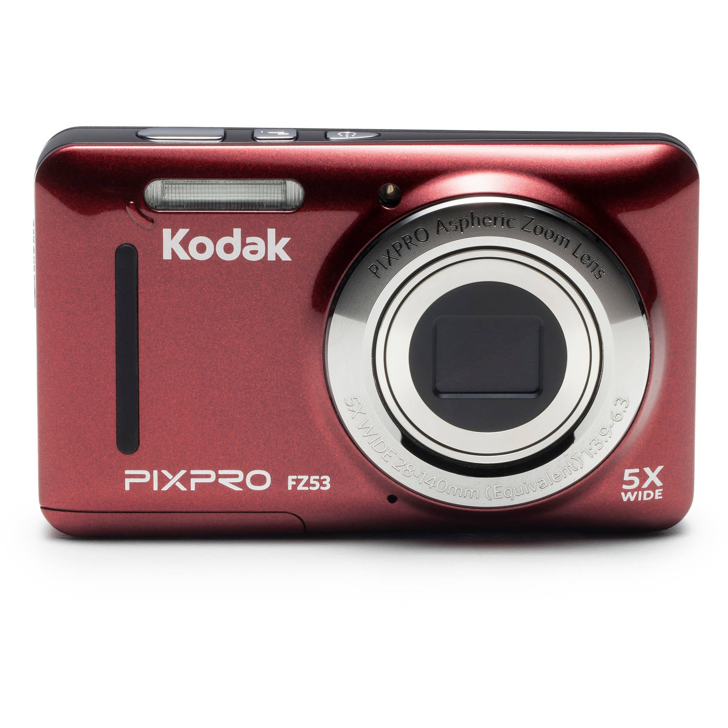 Kodak Red PIXPRO FZ53 Digital Camera with 16.15 Megapixels and 5x Optical Zoom