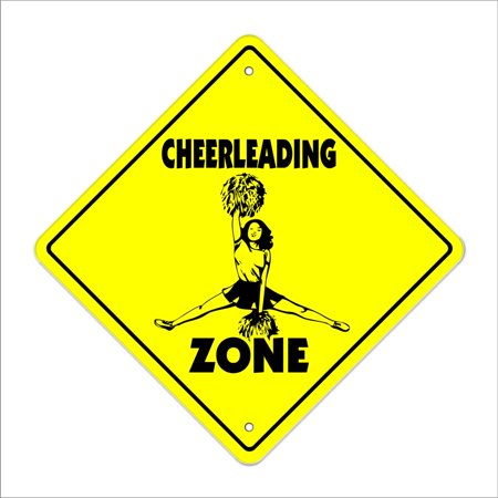 Cheerleading Crossing Sign Zone Xing | Indoor/Outdoor | 14