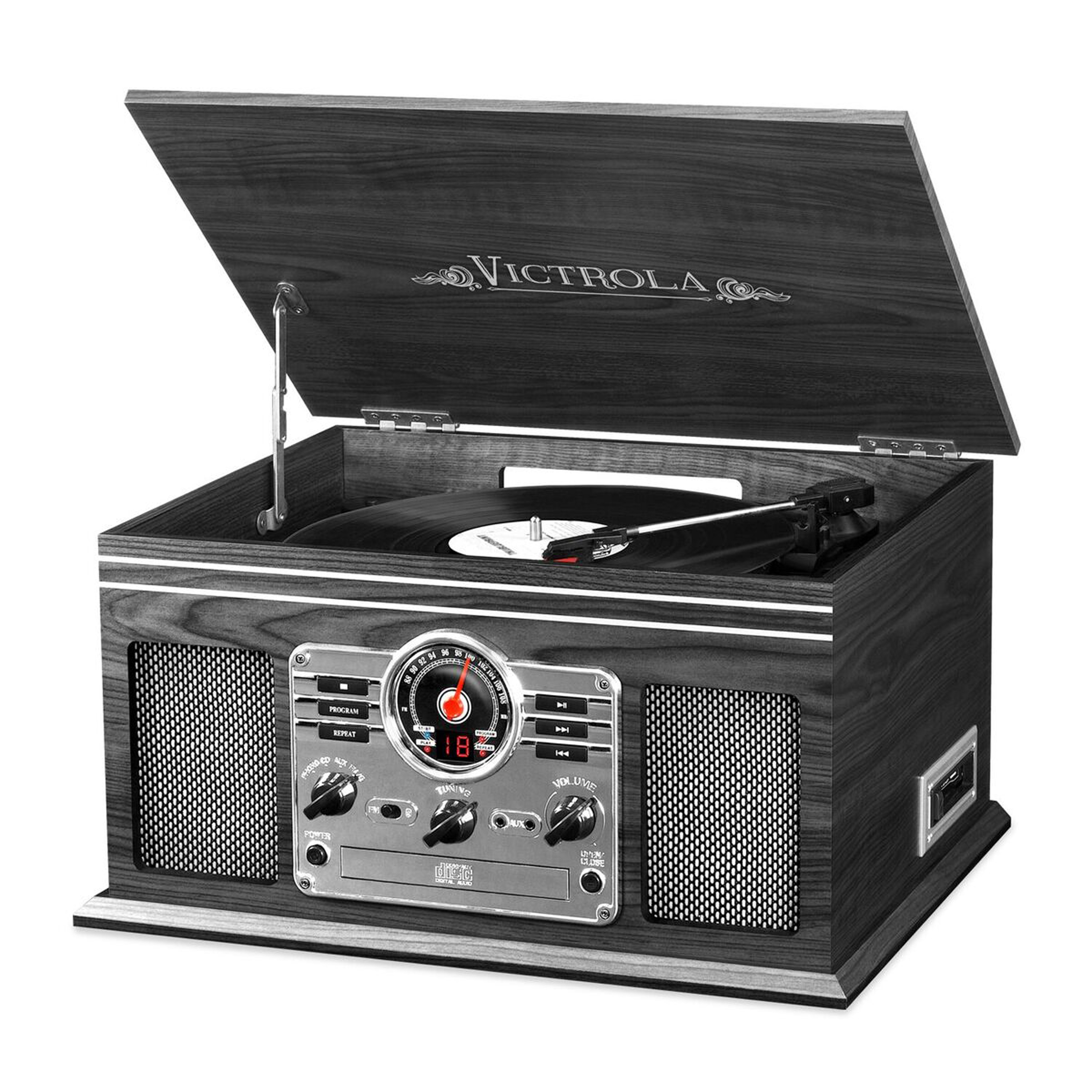 Innovative Technology 6-in-1 Victrola Entertainment Center