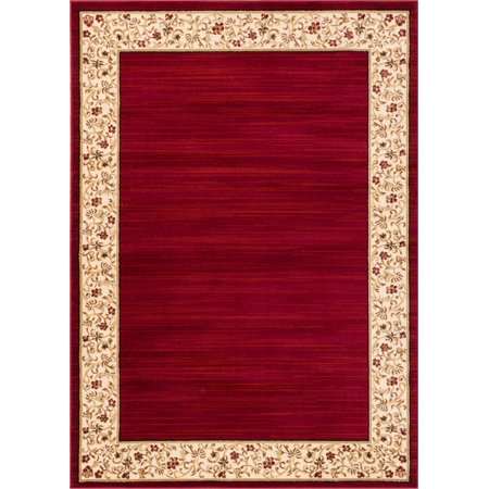 Well Woven Barclay Terrazzo Transitional Oriental Border Red 9'3