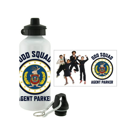 Personalized Plastic Water Bottles (Personalized Odd Squad Agent Group Water)