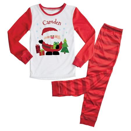 Personalized Christmas Pajamas Kids.Unisex Santa Kids Pajamas Personalized Christmas Pjs