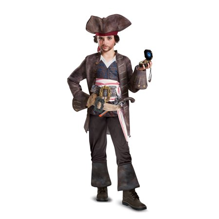Pirates of the Caribbean 5: Captain Jack Deluxe Child Costume - Jack Sparrow Kids Costume