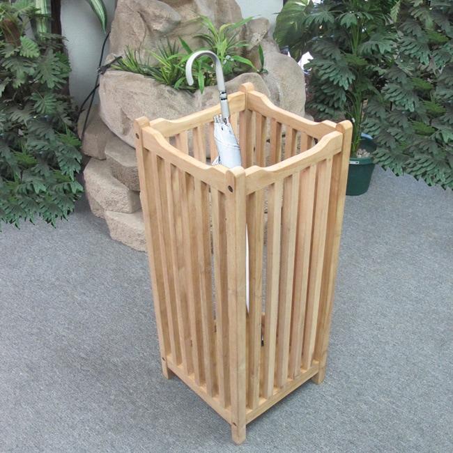 D-Art Handmade  Teak Wood Visalia Umbrella Stand (Indonesia)