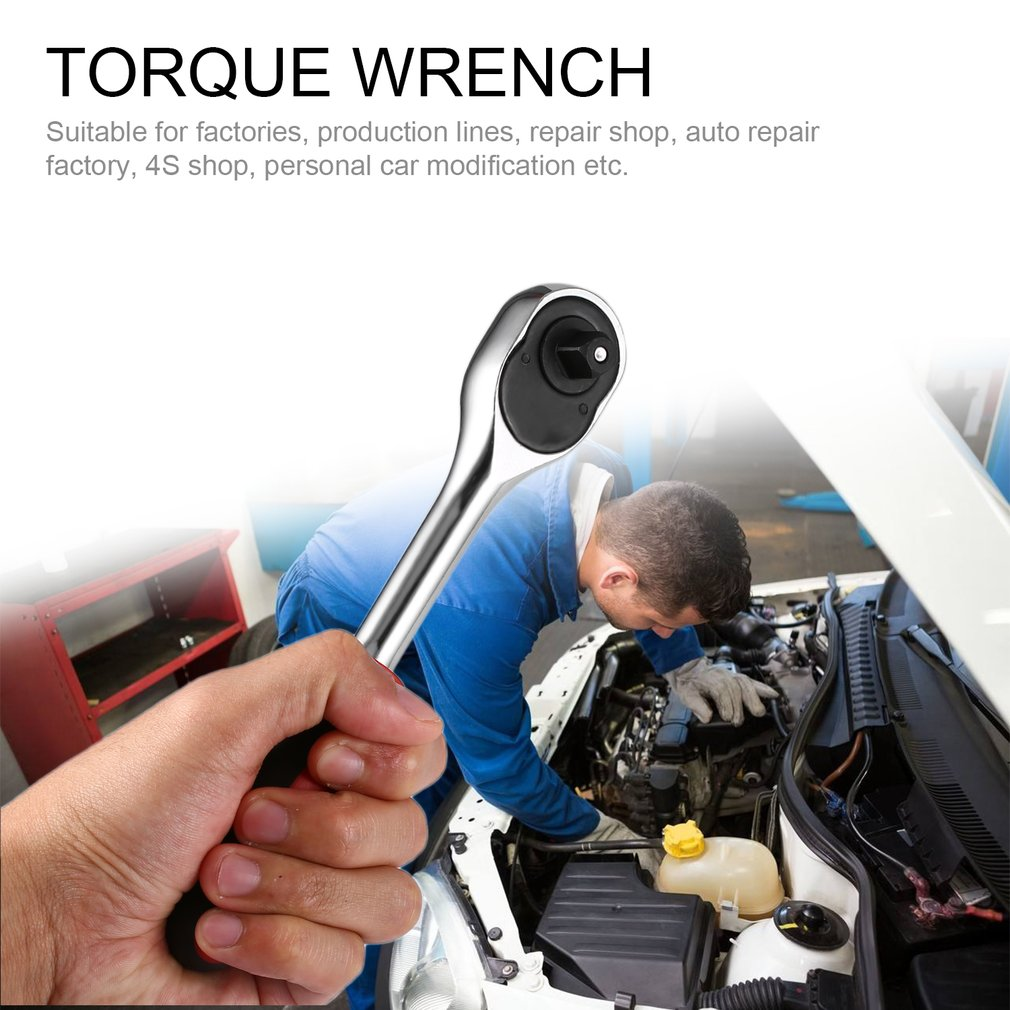1/2 3/8 1/4 Inch Ratchet Wrench 24 Teeth Torque Wrench Quick Release Wrench