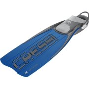 Cressi ARA Fins with EBS Bungee Straps, Silver - SM