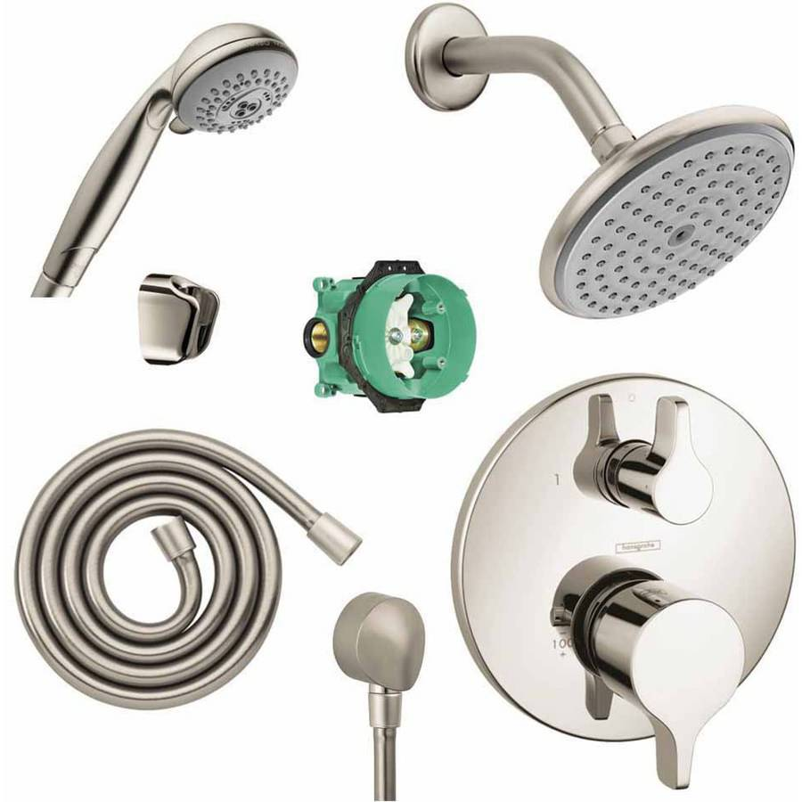 Hansgrohe KSH04448-27466-73PC Raindance Shower Faucet Kit with Handshower PBV Trim with Diverter and Rough-In, Various Colors