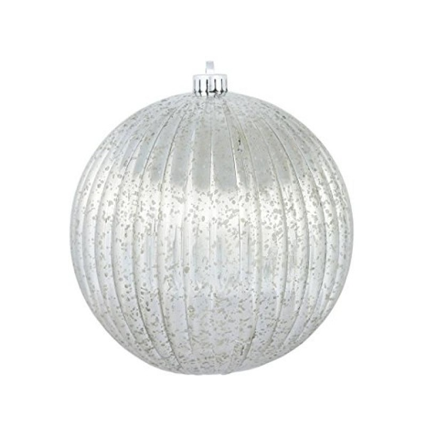 "Vickerman 8"" Pewter Mercury Pumpkin Ball Christmas Ornament - image 1 de 1"