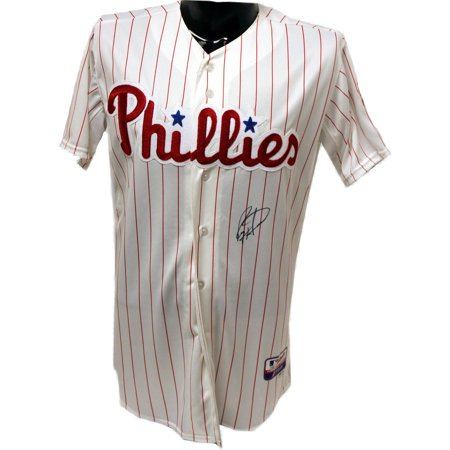 Ryan Howard Phillies Home Authentic Jersey (MLB Authorized) (Signed on - Lewis Signed Baseball