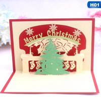 AkoaDa 3D Pop Up Card Merry Christmas Tree Holiday Greeting Creative New Hot Cards