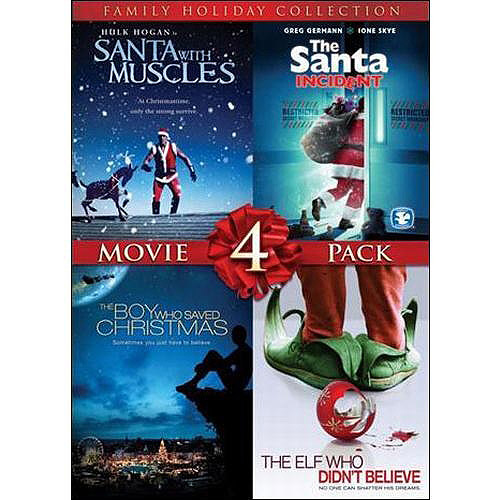 4 Film Family Holiday Movie Collection (Santa With Muscles   The Santa Incident   The Boy Who Saved Christmas ... by