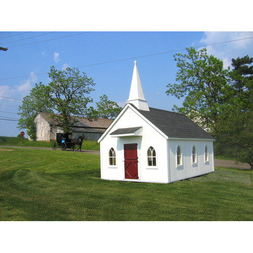 Little Cottage Chapel Playhouse DIY Kit 8x12 by Little Cotttage Company