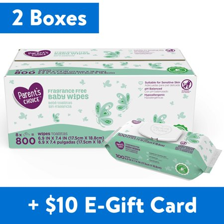 Parent's Choice Baby Wipes 1,600-Count Now $25.76 + FREE $10 Walmart eGift Card