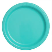Terrific Teal Paper Dessert Plates, 7in, 24ct