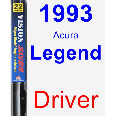 - 1993 Acura Legend Driver Wiper Blade - Vision Saver