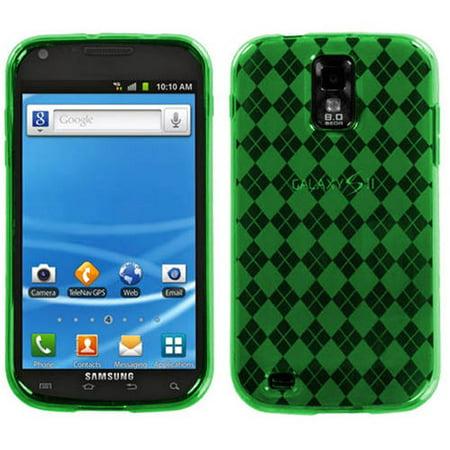 Samsung T989 Galaxy S II MyBat Candy Skin Cover, Dark Green Argyle