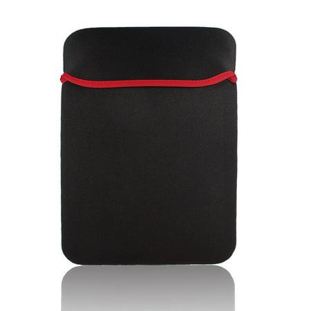 "Unique Bargains Neoprene Red Black 15"" 15.4"" Laptop Notebook Sleeve Bag Cover Case"