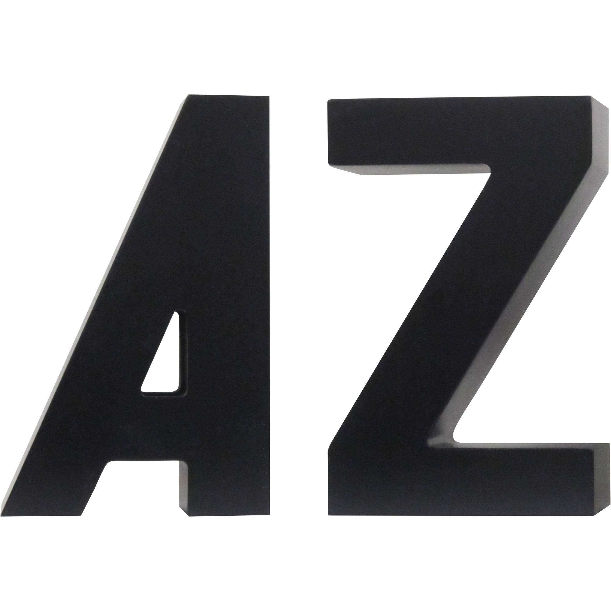 Decorative A to Z Black Bookends by Uniek