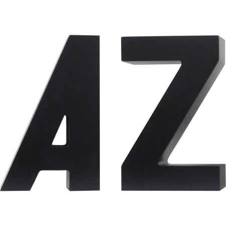 Decorative A to Z Black Bookends