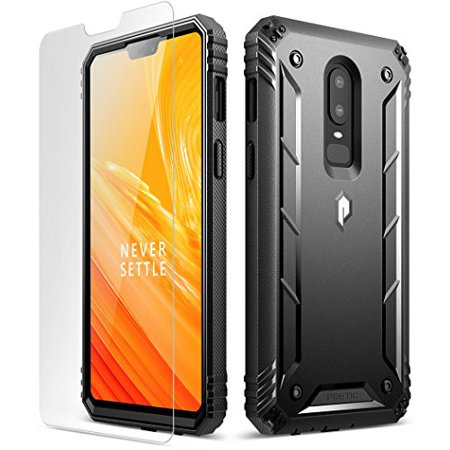 newest cf5bb 3f03b OnePlus 6 Rugged Case, Poetic Revolution [360 Degree Protection] Full-Body  Rugged Heavy Duty Case [With Tempered Glass] for OnePlus 6 Black