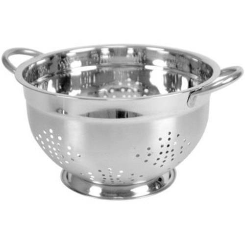 Home Basics DC01330 Deep Colander Stainless Steel 5 Quart, by Home Basics