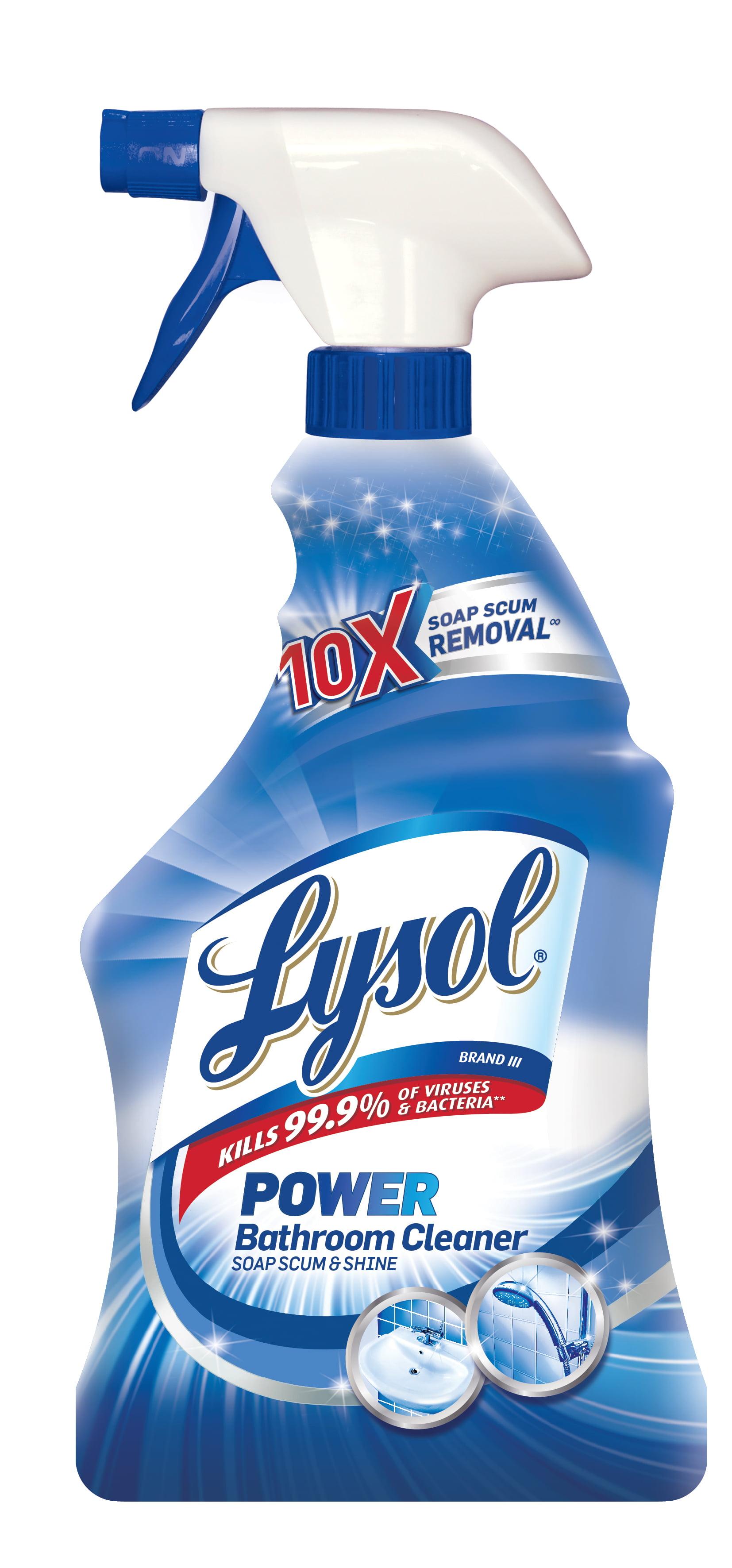 Lysol Power Bathroom Cleaner Spray, Island Breeze, 32oz