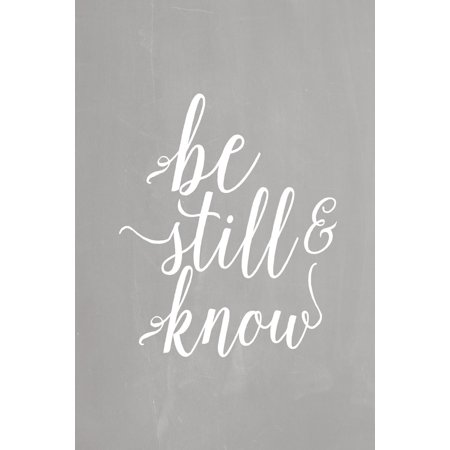 Pastel Chalkboard Journal - Be Still & Know (Grey): 100 Page 6 X 9 Ruled Notebook: Inspirational Journal, Blank Notebook, Blank Journal, Lined Notebook, Blank Diary (Knob Pastel)