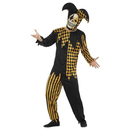 Evil Court Jester Adult Costume Gold - Medium for $<!---->
